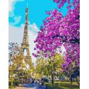 Романтичный Париж Раскраска картина по номерам на холсте GX3777