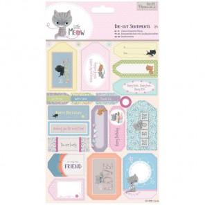 Пожелания Little Meow Набор высеченных элементов для скрапбукинга, кардмейкинга Docrafts