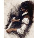 Таинственный пианист Раскраска картина по номерам на холсте GX38251