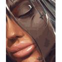 Утонула в мечтах Раскраска картина по номерам на холсте GX38254