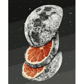 Цитрусовая луна Раскраска картина по номерам на холсте GX38293