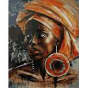 Африканская принцесса Раскраска картина по номерам на холсте GX38379
