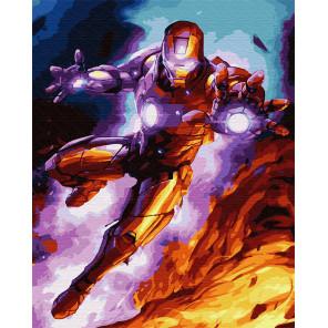 Железный человек Раскраска картина по номерам на холсте GX24459