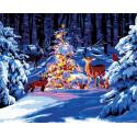 Зима в лесу Раскраска картина по номерам на холсте GX38030