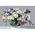 Букет из полевых цветов 20х30 см Раскраска картина по номерам на холсте CX4219
