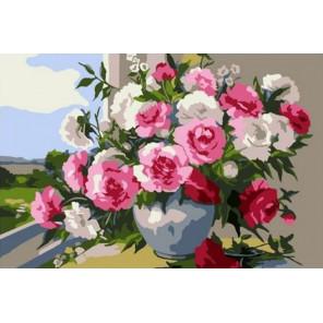 Букет на окне 20х30 см Раскраска картина по номерам на холсте CX4179