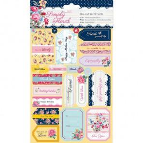 Пожелания Simply Floral Набор высеченных элементов для скрапбукинга, кардмейкинга Docrafts