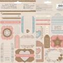 Пожелания Craft Collection Pastels Набор высеченных элементов для скрапбукинга, кардмейкинга Docrafts