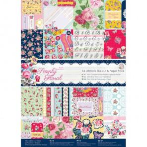 Simply Floral А4 Набор бумаги с высечкой для скрапбукинга, кардмейкинга Docrafts