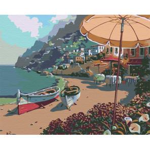 На берегу Капри Раскраска по номерам на холсте Живопись по номерам