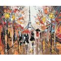 Прогулка по Парижу Раскраска картина по номерам на холсте FR03