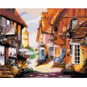 Солнечная улочка Раскраска картина по номерам на холсте FR09