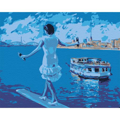 Навстречу морю Раскраска картина по номерам на холсте LV23