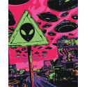 Парад инопланетян 100х125 Раскраска картина по номерам на холсте