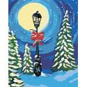 Одинокий фонарь Раскраска по номерам на холсте Живопись по номерам RA133
