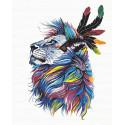 Красочный лев Раскраска по номерам на холсте Живопись по номерам PA106