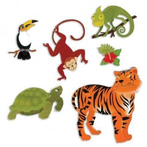 Животные джунглей 3D Стикеры для скрапбукинга, кардмейкинга Ek Success