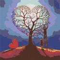 Дерево любви Раскраска картина по номерам на холсте RA065
