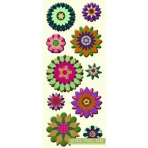 Объемные цветы Стикеры для скрапбукинга, кардмейкинга K&Company