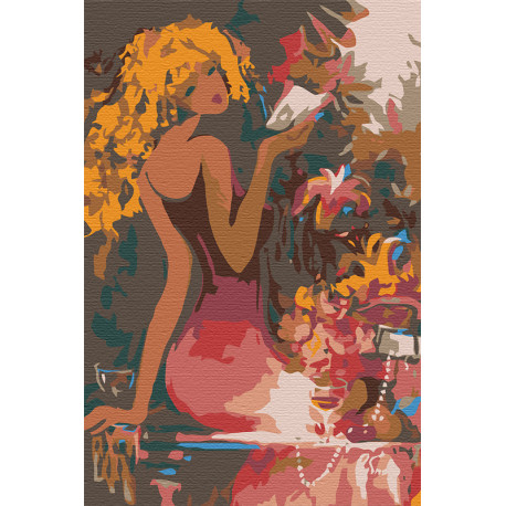 Красотка Раскраска картина по номерам на холсте RA054
