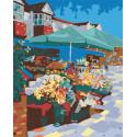 Цветочная лавочка Раскраска картина по номерам на холсте RA059