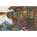 Отдых на озере Раскраска по номерам на холсте Живопись по номерам RA149