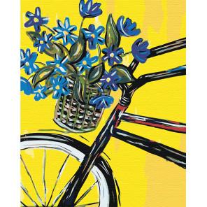 Дамский велосипед Раскраска по номерам на холсте Живопись по номерам RA143