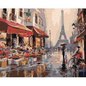 Апрель в Париже Раскраска по номерам на холсте Живопись по номерам