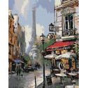 Улицы Парижа Раскраска по номерам на холсте Живопись по номерам
