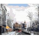 Яузские ворота зимой Раскраска по номерам на холсте Живопись по номерам