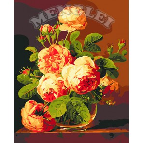 Аромат роз Раскраска по номерам акриловыми красками на холсте Menglei