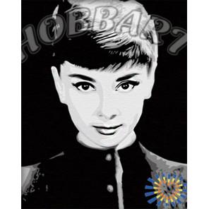 Одри Хепберн Раскраска по номерам на холсте Hobbart HB4050068-LITE