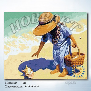 Дары моря Раскраска по номерам на холсте Hobbart HB4050087-LITE