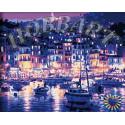Ночная гавань Раскраска по номерам на холсте Hobbart HB4050212-LITE