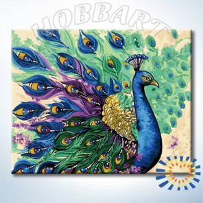 Птица дивная Раскраска по номерам на холсте Hobbart HB4050406-LITE
