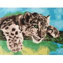 Маленький хищник Раскраска по номерам на холсте Hobbart HB3040110-Lite