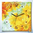 Солнечный круг Часы-раскраска по номерам на холсте Hobbart SH4040008-LITE
