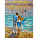 Влюбленные Раскраска картина по номерам на холсте 373-AS