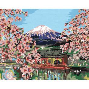 Цветущая Япония Раскраска картина по номерам на холсте KRYM-FN13