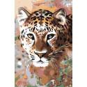 Леопард Раскраска картина по номерам на холсте A63