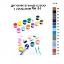 Дополнительные краски для раскраски RA114