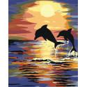 Неразлучные дельфины Раскраска по номерам на холсте Живопись по номерам RA122