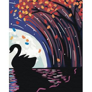 Лебедь при луне Раскраска по номерам на холсте Живопись по номерам RA191