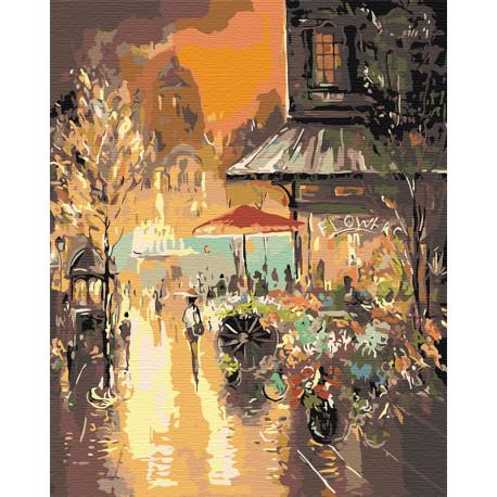 Яркий свет фонарей Раскраска картина по номерам на холсте GP01