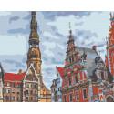 Старая площадь Раскраска картина по номерам на холсте LV19