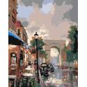 Триумфальная арка Авеню Раскраска по номерам на холсте Живопись по номерам