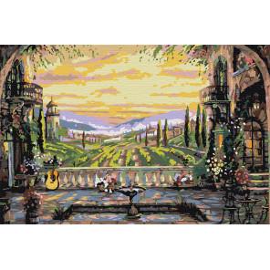 Вид с террасы Раскраска по номерам на холсте Живопись по номерам