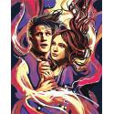 Перемещение во времени. Доктор Кто 100х125 Раскраска картина по номерам на холсте с неоновыми красками AAAA-RS074-100x125