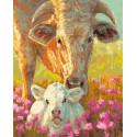 Малышка и техасская жемчужина Раскраска картина по номерам на холсте GX38280