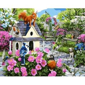 Сад для зверей Раскраска картина по номерам на холсте GX38647